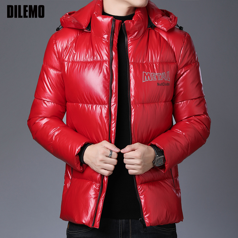 2019 Thick Winter Fashion Brand Jacket Mens Hooded Streetwear Parka Quilted Jacket Korean Puffer Bubble Coat  Men Clothing