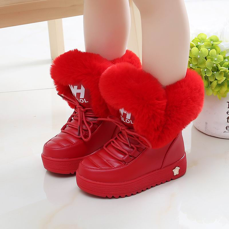Mudipanda Enfant Fille Add Wool Warm Winter Shoes For Students Kids Boots Winter Shoes Girls Kids Winter Boots Red Black Botte