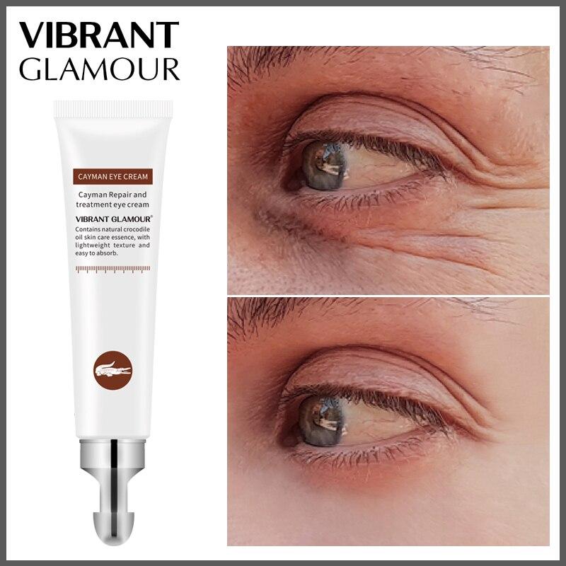 VIBRANT GLAMOUR Crocodile Anti-Aging Wrinkles Eye Cream Hyaluronic Acid Gel Whitening Moisturizing Remove Dark Circles Puffiness