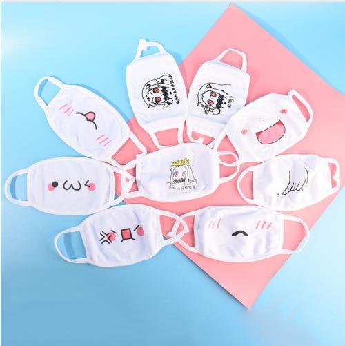 1pc Cute Unisex Funny Tooth Dust Mask Lips Fangs Cotton Mask Cartoon Kpop Flu Mask Emotiction Masque Hot 2