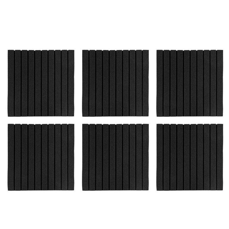 Soundproof Foam Acoustic Panels Strip Shape Sound-Absorbing Soundproofing Cotton Foam Acoustic Panels (Black)