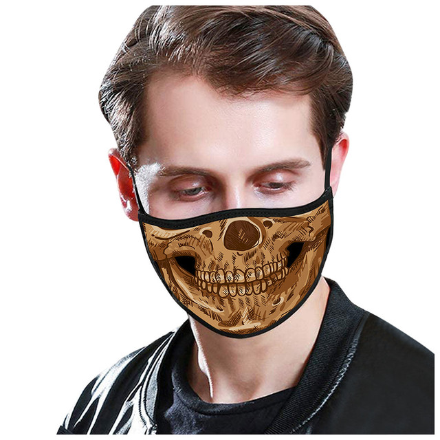 Skull Pattern Cotton Masks Festive Party mask Washable Keep Warm Dust Proof Flu Mouth-muffle Respirator Mask women men masque 1
