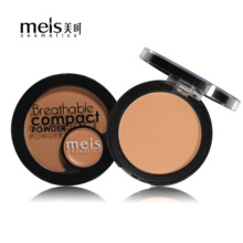 MEIS Natural Face Powder Mineral Oil-control Foundations Brighten Concealer Whitening Make Up Pressed Powder With Puff MS0270
