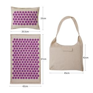 Image 3 - Procircle Acupressure Mat Pillow Set for Massage Linen Cotton Acupuncture Mat with Back Neck Bag Pain Relief Better Deeper Sleep