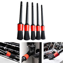5pcs Car Detailing Brush Set Car Brushes Wash Tool Cleaning Wheel Tire Brush Interior Dashboard Detailing Brush Car Clean Tools