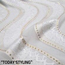 Шелк люрекс Металлик Жаккардовая Ткань шелковое платье ткань для сари женская одежда
