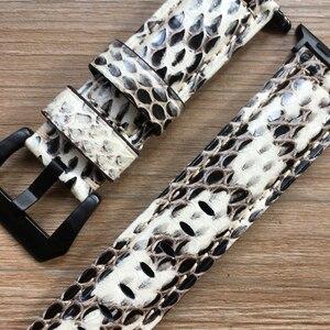 Image 4 - Uhr Band Für Apple Uhr Genuine Snake Skin Leder Uhr Strap Für Apple Serie 1 2 3 4 Uhrenarmbänder iWatch 38mm 40mm 42mm 44mm