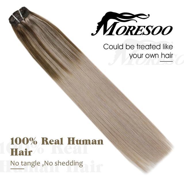 Moresoo заколка для волос в машине remy бразильская модель двойной