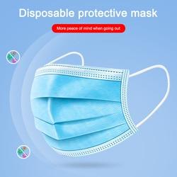 50 sztuk Anti-dust Safe oddychająca Maska do pielęgnacji twarzy i ust jednorazowe maski dla dorosłych pętla do uszu Maska do twarzy filtr z włókniny 3