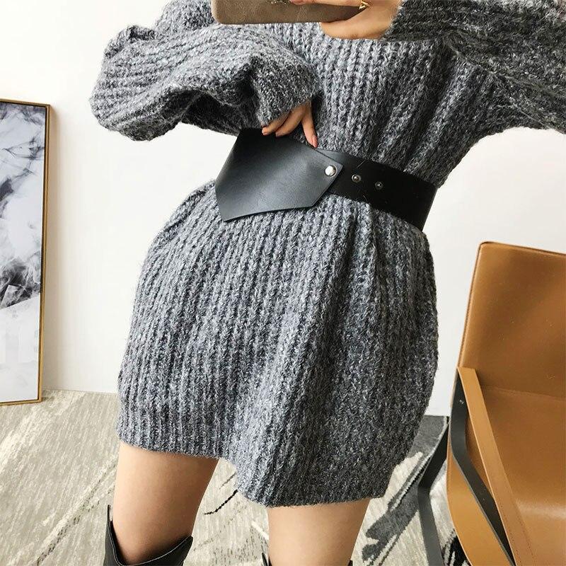 Wide Pu Leather Waist Belt Female Ladies Winter Autumn Coat Clothing Accessories Women's Long Belt 2019 For Waist 68-78cm