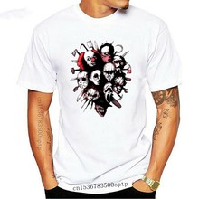 Horror Heroes chucky Michael Myers Tees Short Sleeves Original Teenage O-Neck T Shirts Black 100% Cotton Vintage T-Shirts