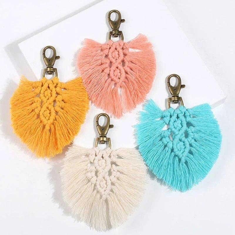 10pcs Cute Metal Tassel Keychain Charm 150 120 100mm Key Fob Ring Women Boho State Vintage Large Handmade Clip Purse Hardware Leather Bag