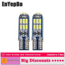 2 x LED T10 w5w car Clearance Parking Lights 168 192 led Car Side Wedge Light White Blue Lamp Bulb Styling