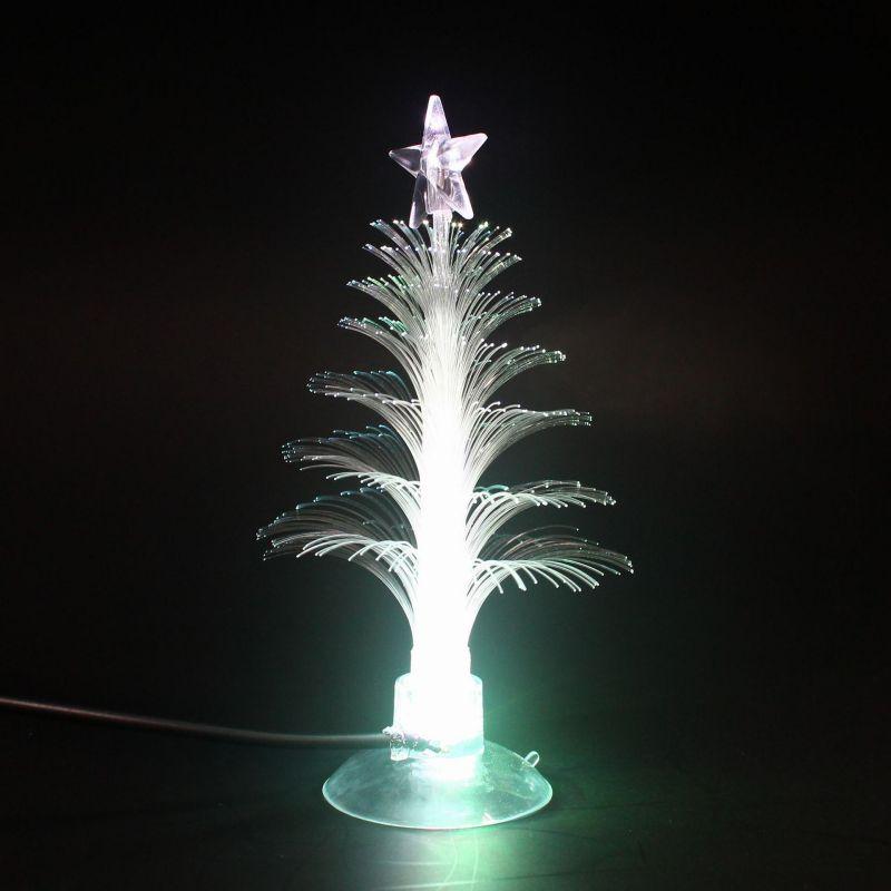Arbre de noël LED veilleuses décoration de la maison couleur changeante veilleuses à fibres optiques