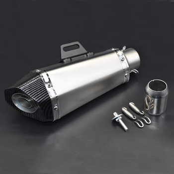 Motorcycle exhaust pipe muffler exhaust with escape moto DB killer for Z900 MT09 KTM390 CBR R6 FZ8 51mm left and right motorcycle exhaust muffler escape moto exhaust systems db killer silencer exhaust for z1000 mt09 msx125 mt07