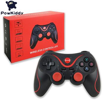 Powkiddy T3 joystick bezprzewodowy bluetooth 3 0 uchwyt do gier nadaje się do A19 konsoli tablet smartfon z androidem PS3 kontroler do gier tanie i dobre opinie Brak Gamepady