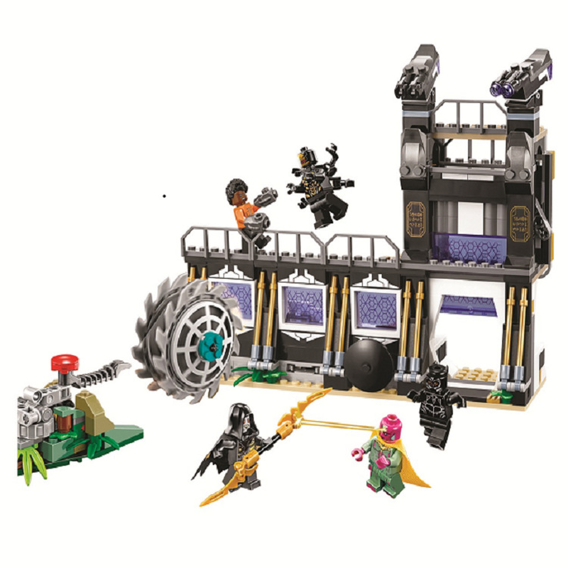 10838 Compatible Legoinglys Marvel Avengers Infinity War Super Heroes Corvus Glaive Thresher Attack Building Block Brick Toys-in Blocks from Toys & Hobbies