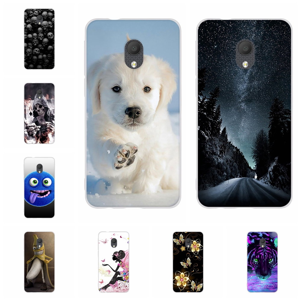 For Alcatel 1C 2019 Case Ultra-thin Soft TPU Silicone Cover Cartoon Patterned Coque Bag