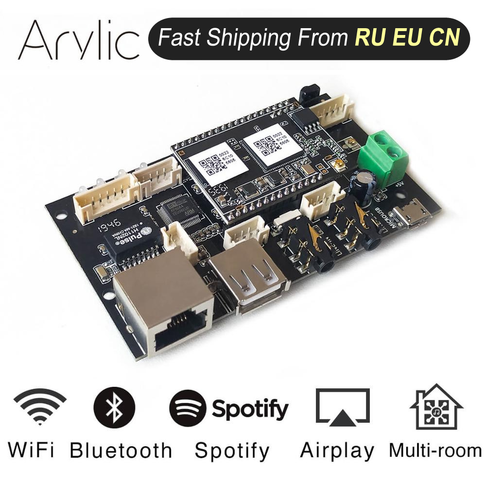 Up2Stream Pro WiFi and Bluetooth 5 0 HiFi audio receiver board with spotify airplay dlna internet radio and streaming music
