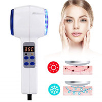 Face Care Device Hot Cold Hammer Cryotherapy Blue Photon Acne Treatment Lifting Rejuvenation Facial Machine Skin Beauty Massager