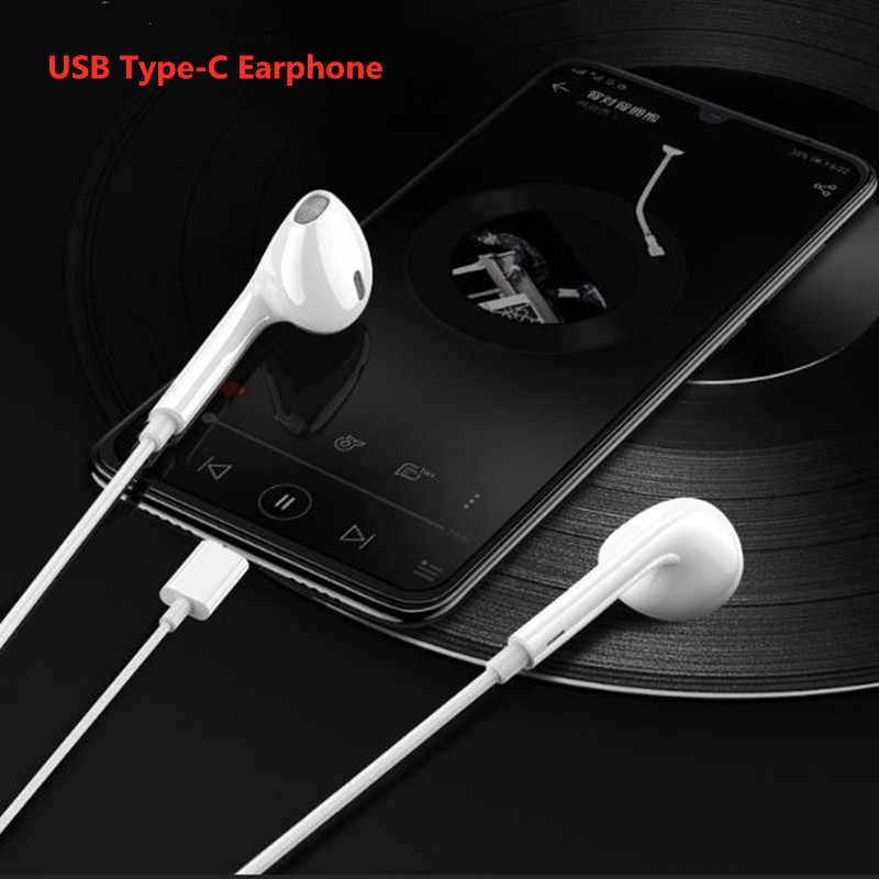 לסמסונג גלקסי הערה 10 + A90 USB סוג-C הדיגיטלי סטריאו אודיו סוג C באוזן אוזניות כבל עבור OPPO למצוא X נוביה Z17 נוקיה 8