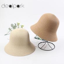 Female Hats Straw-Hat Travel-Bucket-Cap Holiday Panama Vintage Beach Women Summer Boho