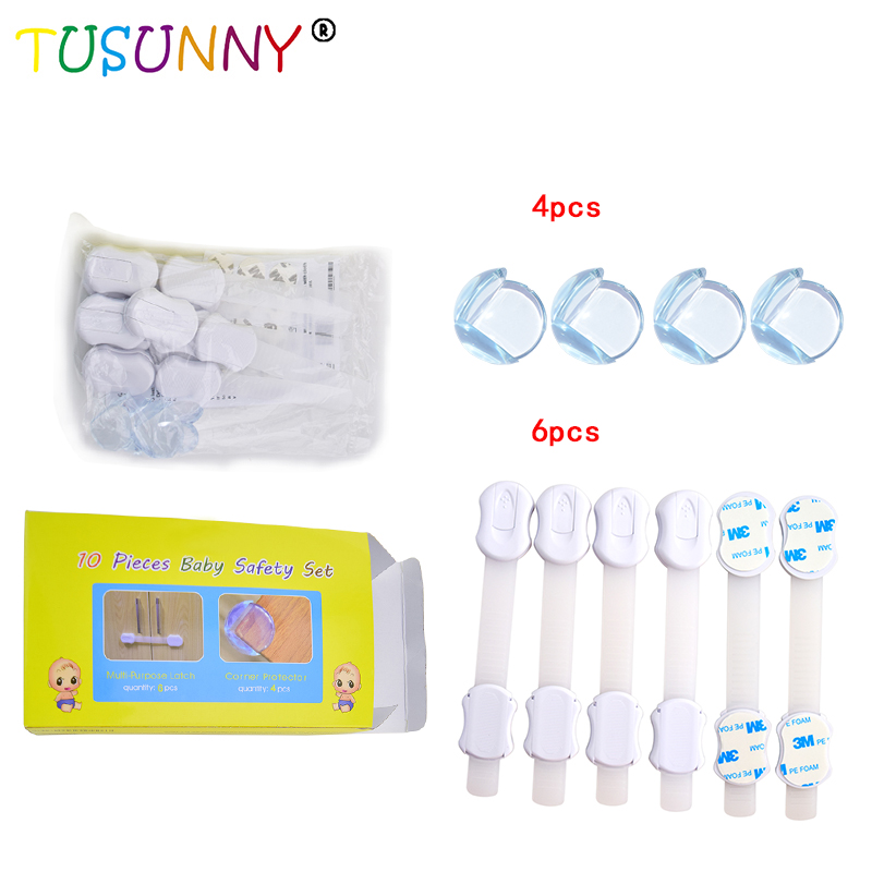 10 Pcs/Lot Baby care Safety Set Include Adjustable Lock Corner Protector