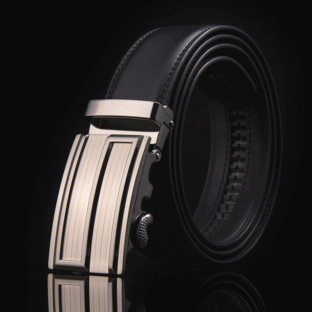 Famous Brand New Male Designer Automatic Buckle Cowhide Leather belt 110cm-150cm Luxury for men 4