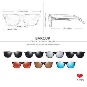 Image 2 - BARCUR אלומיניום גברים משקפי שמש משקפיים שמש לגברים נשים Eyewear אבזרים
