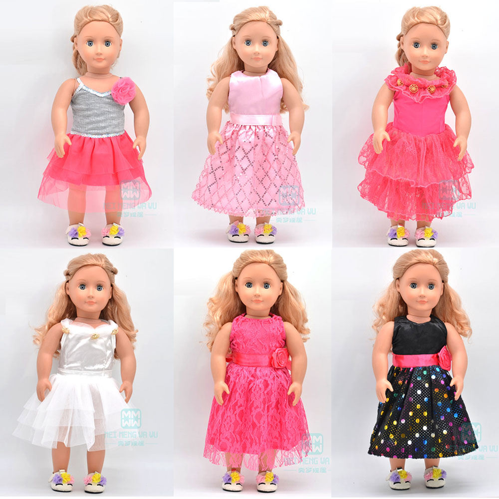 Ubranka dla lalek pasuje 43cm noworodki lalka i amerykańska lalka moda różnorodność sukienki księżniczki spódnica baletowa