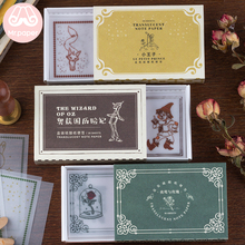 Mr Paper 30pcs/box Fairy Tales Alice in Wonderland Little Prince Memo Pads Transparent Sulfate Butter Loose Leaf