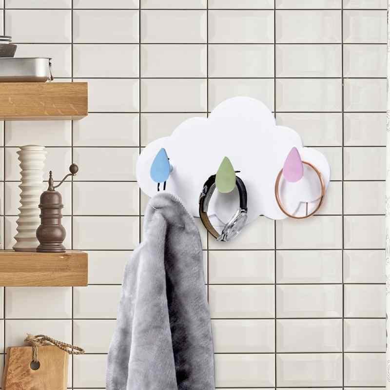 プラスチック自己粘着フックウォールマウントタオルコートフック服帽子キーハンガー家庭用子供装飾ハンガーツール