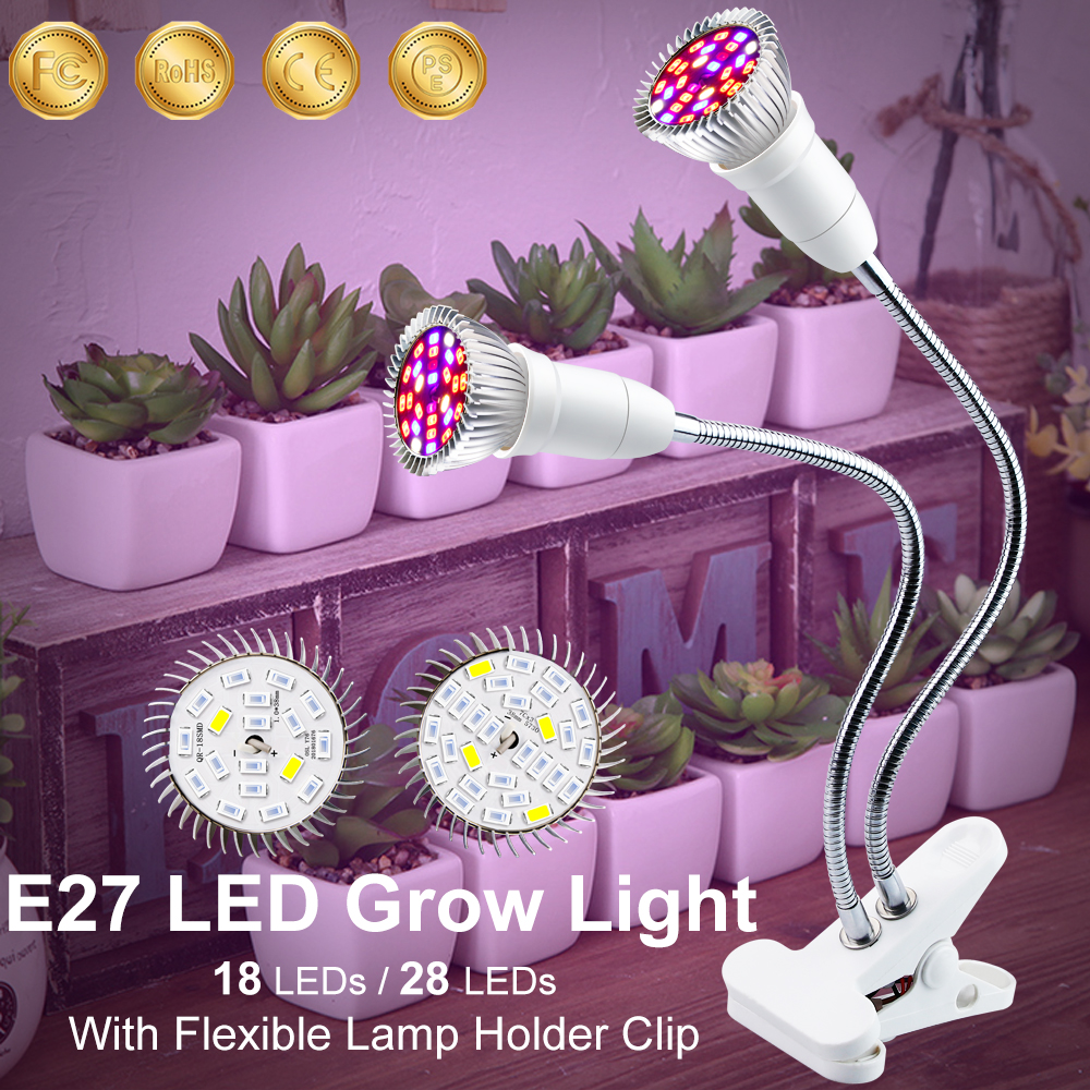 LED For Plants Full Spectrum LED Grow Lights Flexible 18W 28W For Grow LED Plant IR UV Hydroponic Chambre De Culture Indoor