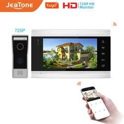 Jeatone 7 zoll Monitor Video Sprechanlagen Home Security System Video Türklingel Tür telefon cam, Multi-sprache, unterstützung fernbedienung