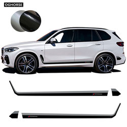 2pcs Car Performance Side Skirt Stripes Body Decal Stickers for BMW X5 G05 2019-Present Accessories Black-Grey