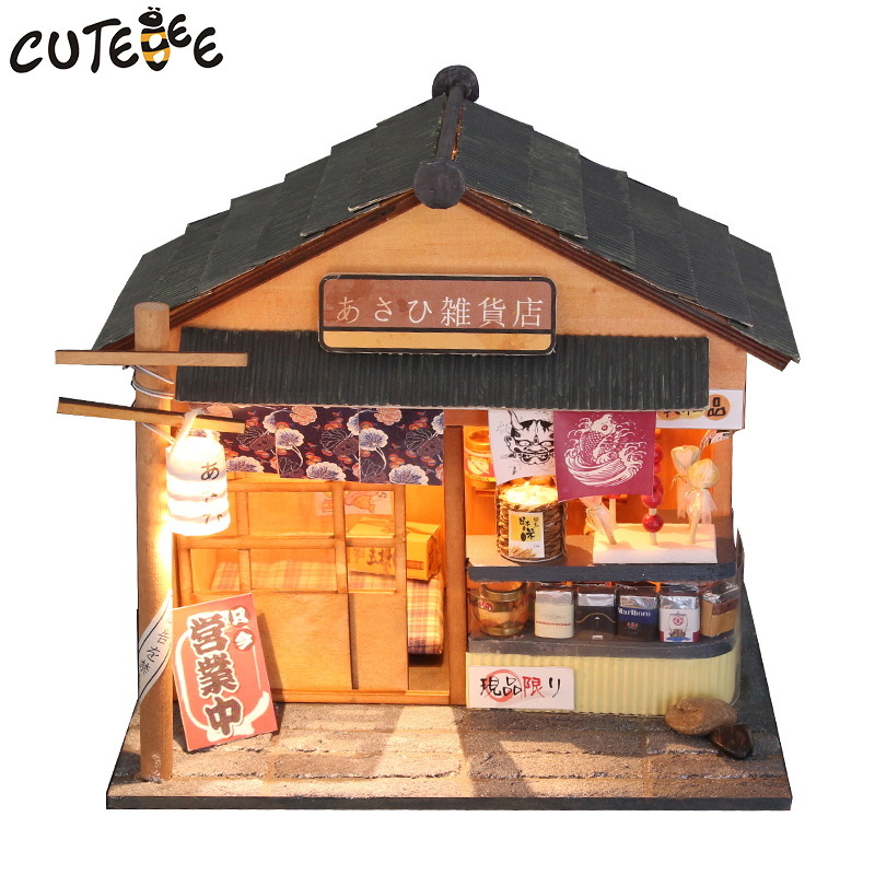 CUTEBEE Doll House Miniature DIY Dollhouse With Furnitures Wooden House <font><b>Toys</b></font> For Children Birthday -Chaoyang <font><b>grocery</b></font> <font><b>store</b></font> D035 image