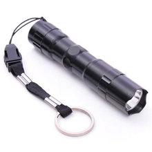 Mini LED energy saving flashlight white flashlight No. 5 black aluminum alloy flashlight 3w aluminum alloy led flashlight bulb energy saving p13 5s white light 3v 4 12v