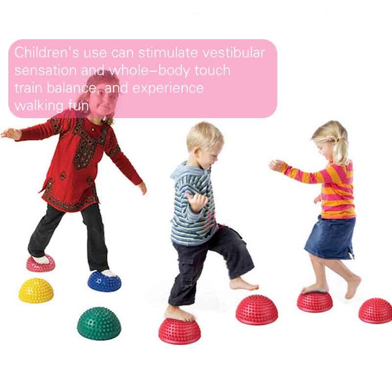 Baby Hemisphere Stepping Stones Spiky Massage Balance Ball Yoga Half Ball Sensory Integration Ball Pump Massage Ball Board Toys