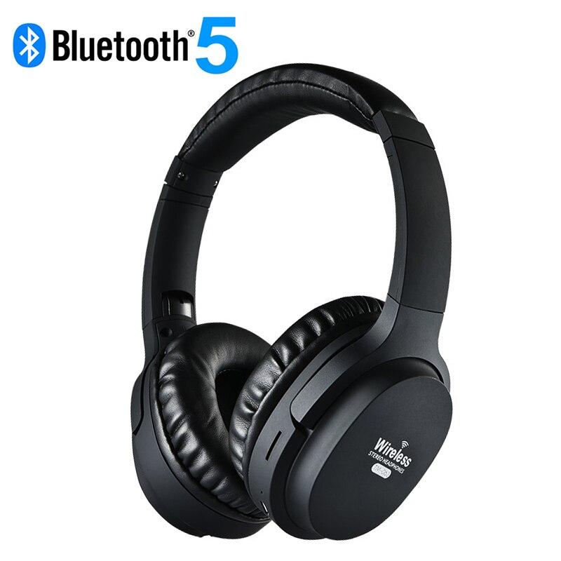 Foldable Super HiFi Bass Headphone Wireless Headphone Bluetooth 5.0 Active Noise Cancelling Headphone with Microphone Headphone