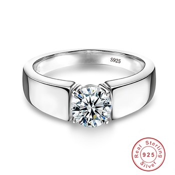 Solid Sterling Silver Ring Jewelry Diamond Jewelry