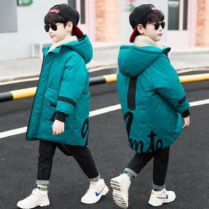 Image 2 - Winter Jacket Boys Overalls Childrens Warm Thick Jacket Coat Teenager 4 16yrs Parkas For Children Clothes Kids Outerwear&Coats