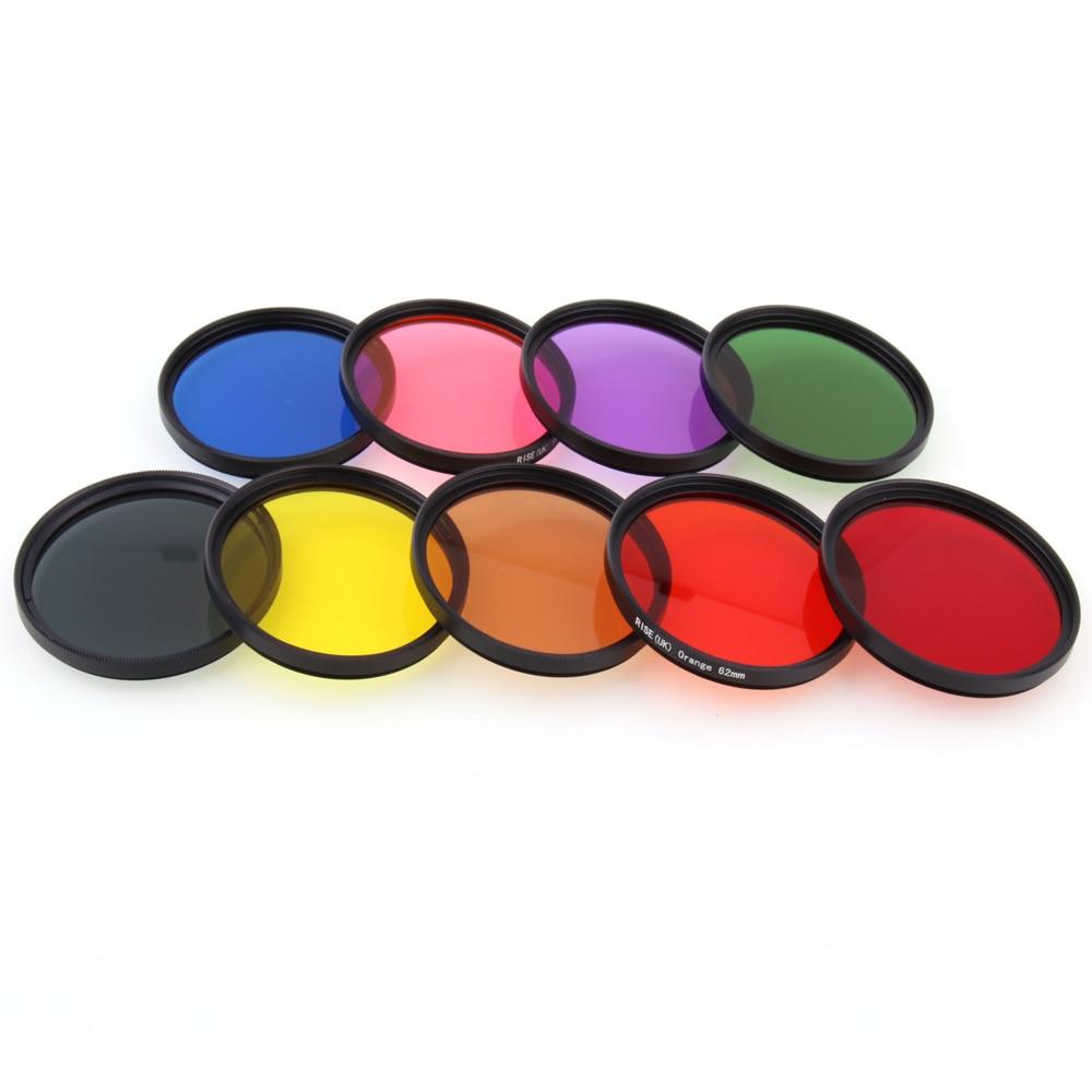 Camera-Lens COLOR-FILTER DSLR RISE Blue Green 77/82mm UK for Brown Ultra-Slim-Frame Pink