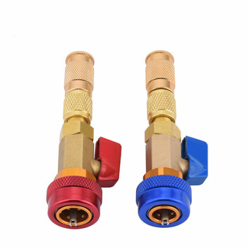 Air Conditioning Valve Core R134a Quick Remover Low Pressure Refrigerant Freon Adapter Kit High Repair Tool