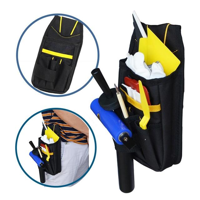 FOSHIO Vinyl Wrap Car Tools Bag Professional Window Tint Squeegee Knife Storage Utility Bag Oxford Pouch Waist Belt Organizer