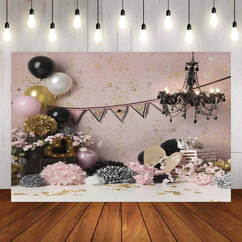 Photography Background Balloon Chandelier Flag Party Photo Custom Studio - discount item  43% OFF Camera & Photo