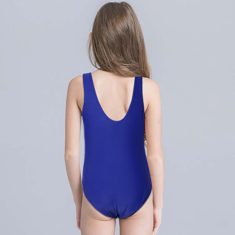 New Products Children One-piece Surfing Bathing Suit Sun-resistant Middle And Large Men And Women Children Solid Color Pattern B