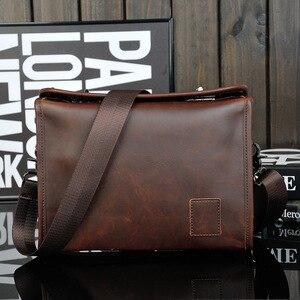 Image 1 - Bolsa masculina de couro pu, bolsa executiva casual masculina de alta qualidade feita em couro sintético de poliuretano com fecho