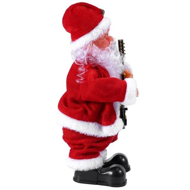Créatif noël électrique père noël chantant danse guitare poupée jouet nouvel an cadeau pour enfants jouet Navidad noël décor