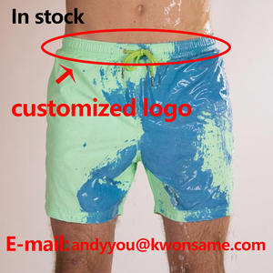 Shorts-Suit Swimwear Customized-Logo Color-Changing Changes-Color Trunks Men