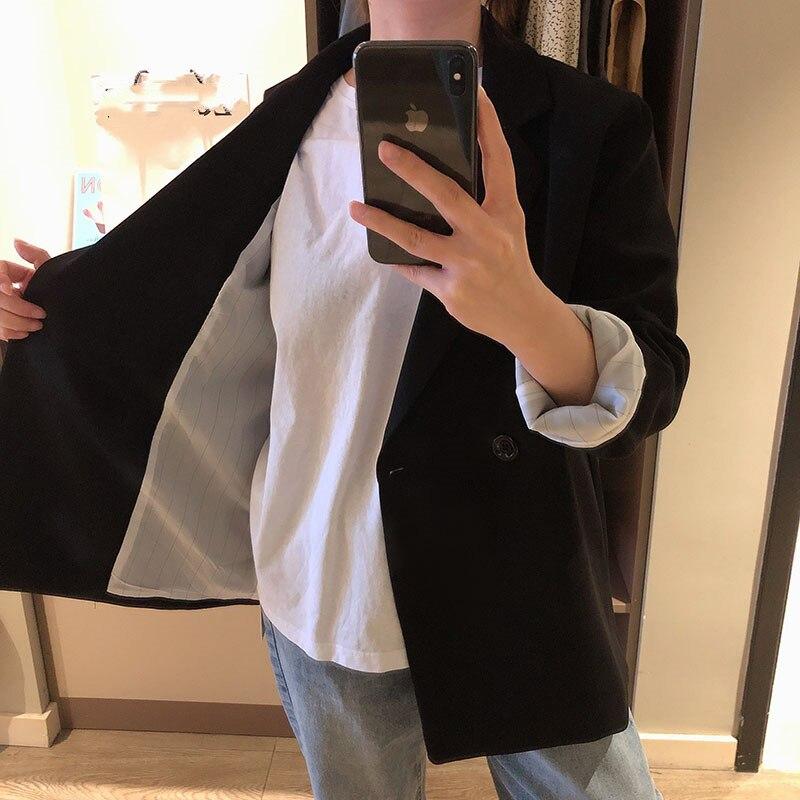 Casual Fashion Women's Blazer 2019 Autumn New Slim Black Suit Jacket Female Wild Loose Women's Office Suit High Quality